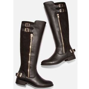Taylor Zip & Buckle Riding Boot
